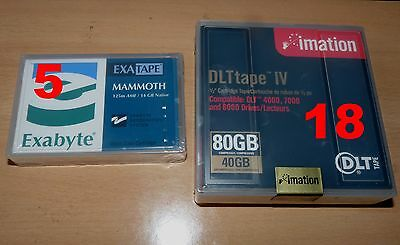Lot De 23 Tape Cartridge Tape Bande Sauvegarde Imation 80 Gb + Mammoth 125M 14Gb
