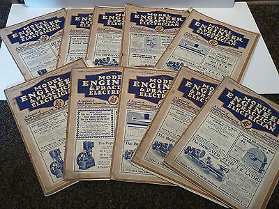 10 x vintage magazines Model Engineer and Practical Electrician 1931 vol-64/65