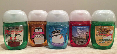 Bath & Body Works Hand Sanitizers set of 5 Christmas Edition *BRAND NEW SEALED*