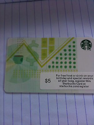 1 x USA Starbucks new card 6105  as scan