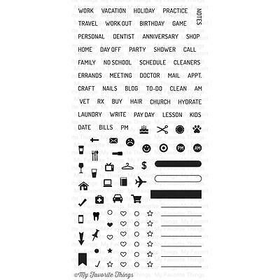 My Favorite Things Planner Basics Clear Stamps LLD-39