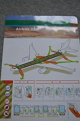 Aer Lingus A320 safety card