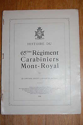 History of the 65th Regiment Carabiniers Mont-Royal pub 1906 by Chambers