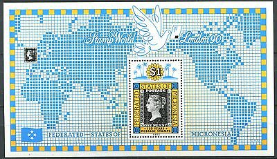 MICRONESIA Stamps on Stamps Mint MNH CV $15.00 3 SCANS