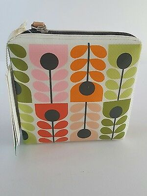 Orla kiely make up/toilet/wash bag filled with a trio of hand balm sage lavender