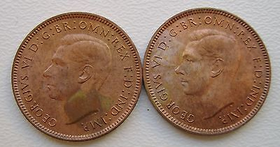 2 x GEORGE VI 1947 FARTHING COIN IN COLLECTABLE GRADE (366)