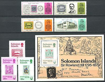 SOLOMON ISLANDS Stamps on Stamps Mint MNH 2 SCANS