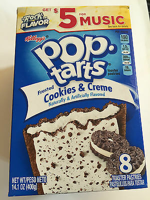 Kelloggs Pop Tarts Frosted Cookie & Creme 8 toaster pastries