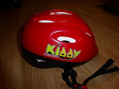 casque vélo KIDDY DECATHLON taille 52-56 cm rouge