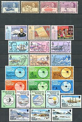 BRITISH ANTARCTIC TERRITORY Lot of Mint Stamps MNH 5 Complete Sets CV $24.70