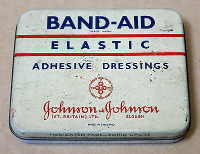 Vintage Band-Aid Tin By Johnson & Johnson