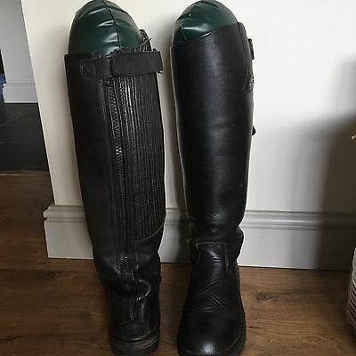 Mountain Horse High Rider Black Boots Wide 7.5