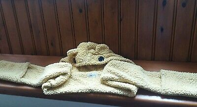 Girls Hooded  Fun Animalscarf With Mittens Great Condition