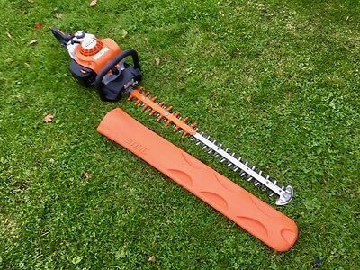 "Immaculate 2016 STIHL HS82T Petrol top of range hedge trimmer cutter 30"" blade"