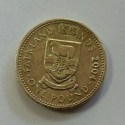 Rare Falkland Islands £1 coin One Pound-2004