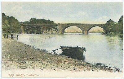 Vintage Postcard. Spey Bridge, Fochabers. Unused. Ref:6.422