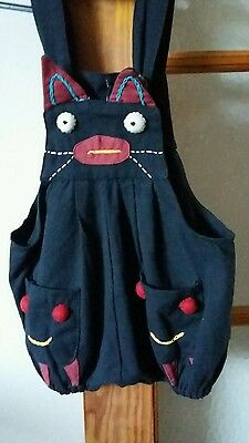 Nepal baby toddler cat  dungarees New with tags