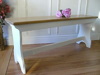 vintage style pine bench shabby chic wooden bench