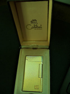 Immaculate Gold Colibri Slim Line Lighter - Boxed
