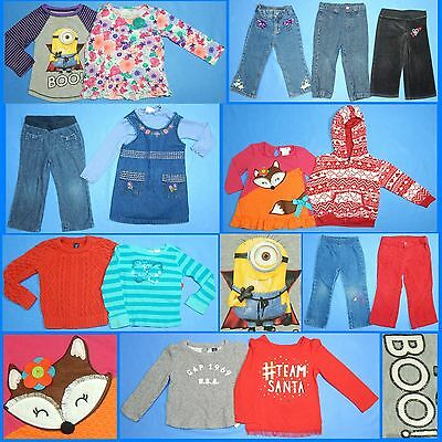 15 Piece Lot Nice Clean Girls Size 2T 2 24M Fall Winter Everyday Clothes FW113