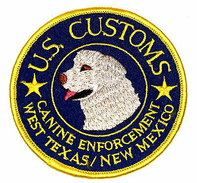 WEST TEXAS NEW MEXICO - CANINE ENFORCEMENT - TX NM Police Sheriff Patch DOG LAB