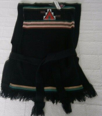 Vintage Girls Tabard -Age8-10 Approx -Black-Aztec design-Acrylic -New. Ref:-J116