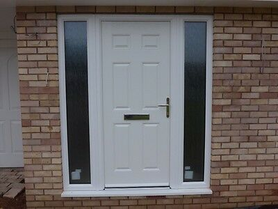 New White Composite Front Door And Frame