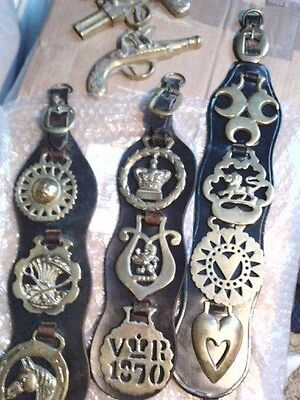 Collection Of Some Very Old Horse Brasses Plus