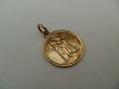 1959 Vintage Hallmarked 9Ct Solid Gold St Christopher Pendant/charm,approx 2.9 G