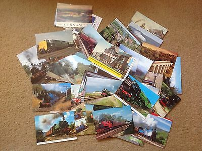 Assorted 71 Train Postcards From Various Dates 70s Onwards