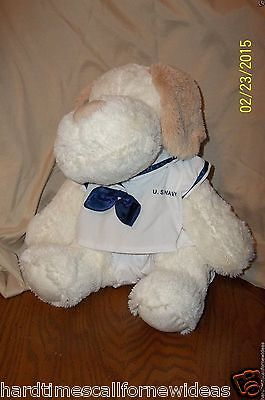 The Bear Factory Dog Plush In US Navy Uniform