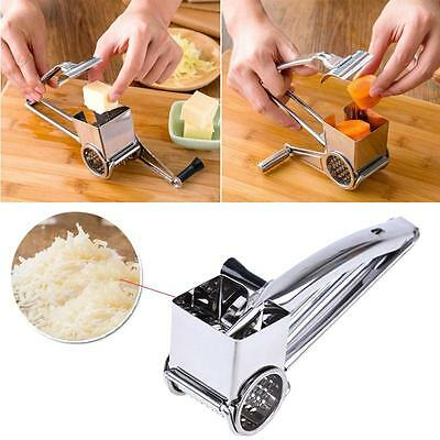 Creative Craft Stainless Steel Rotary Cheese Grater Drums Blades Slicer