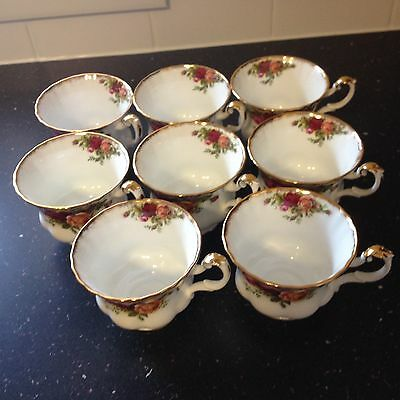 Royal Albert Old Country Roses Tea Cups X 8 First Quality