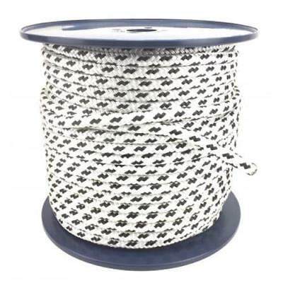 12mm x 100m Polyester Rope Double Braided Black - Yacht Sailing Mooring