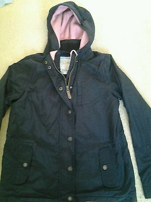 Girls Fat Face coat/jacket, black, age 10-11