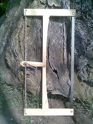 "Bushcraft 24"" Ash Folding Buck Saw / Wild Camping / Woodcraft / Ray Mears / Etc"