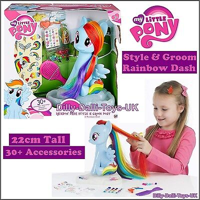 NEW My Little Pony STYLE & GROOM Rainbow Dash Oversized 22cm Hair Styling Figure