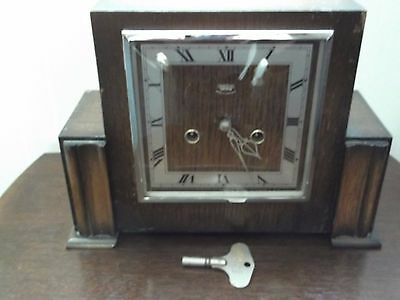 smiths of enfield wooden art deco clock