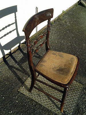 Antique Ladderback Dining Chair ~ Thought to be Victorian or Edwardian