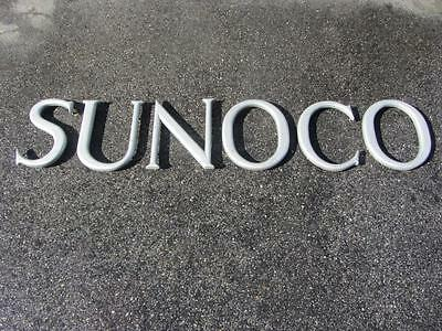 Vintage & Rare SUNOCO LETTERS SIGN Cast Aluminum GAS STATION OIL CAN