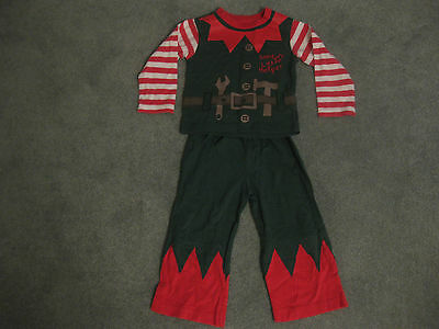 Elf PJ's Santas Little Helper Size 12/18mths