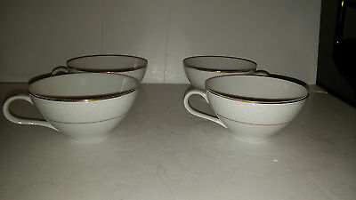 Embassy Touch Of Gold Japan Set Of 4 Flat Coffee Cups