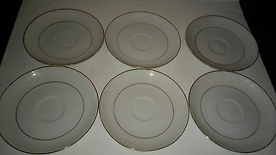 Embassy Touch Of Gold Japan Set Of 6 Saucers