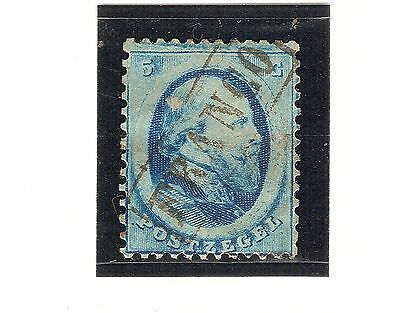 Pays Bas  - Nederland  Royaume - Guillaume Iii -1864 -  5 C Bleu