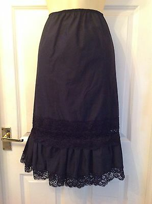 Beautiful Steampunk Gothic Style Black Lace Skirt Petticoat 12/14 New!