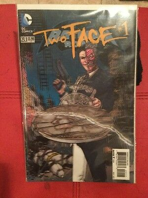 Batman & Robin #23.1 Comic Book (Two Face #1) HOLOGRAPHIC COVER