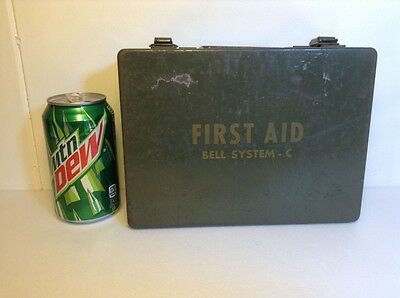 Bell System First Aid Kit, Metal Case.