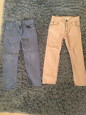 Boys Chinos From H&M Blue And Beige 4-5years