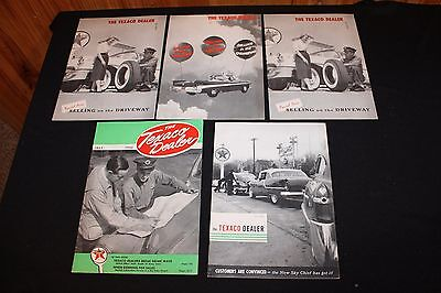 LOT OF 5 THE TEXACO DEALER MAGAZINES - 1940's & 1950's