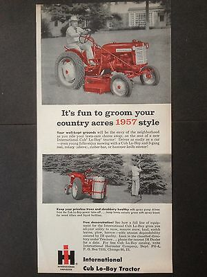 Vintage Ad 1957 (Xx44)~International Harvester Cub Lo-Boy Tractor